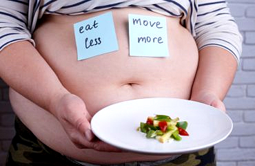 Eat less, move more